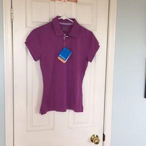 NWT Columbia polo shirt with UPF 30 sun protection